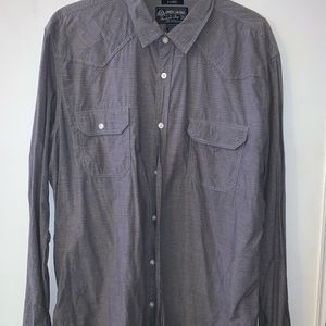 American Rag Shirts - American Rag grey casual long sleeve shirt.
